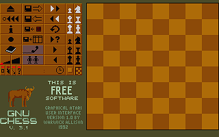 GNU Chess atari screenshot